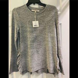 Free Generation- new Grey Faux Pearl Sweatshirt-M
